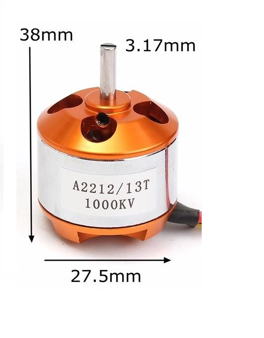 A2212//13T 1000KV Brushless Motor Outrunner for RC Airplane Aircraft Quadcopter